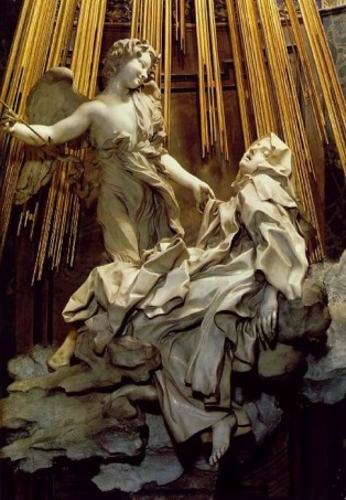 Figure 1.4: Giancarlo Bernini, Ecstasy of Saint Theresa, 1645-52), Santa Maria della Vittoria, Rome, Italy