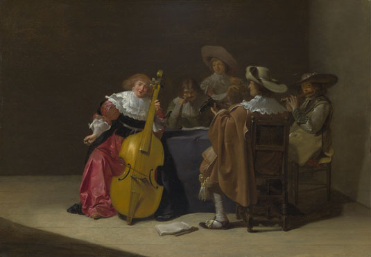 Figure 4.2 Jan Olis, A musical party, 1633. The National Gallery