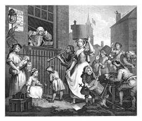 William Hogarth, The Enraged Musician (1741)