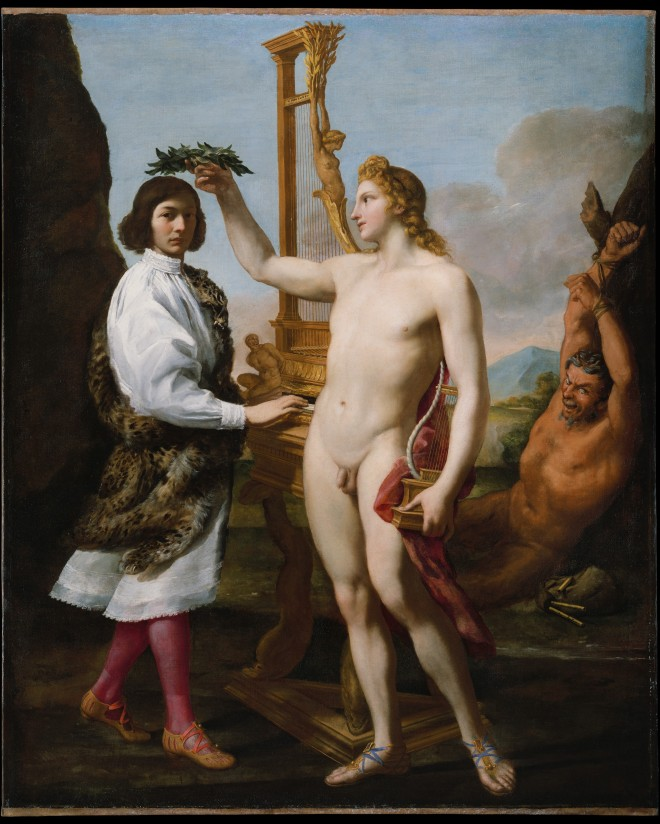 Andrea Sacchi, Marcantonio Pasqualini (1614–1691) Crowned by Apollo (1641). The Metropolitan Museum